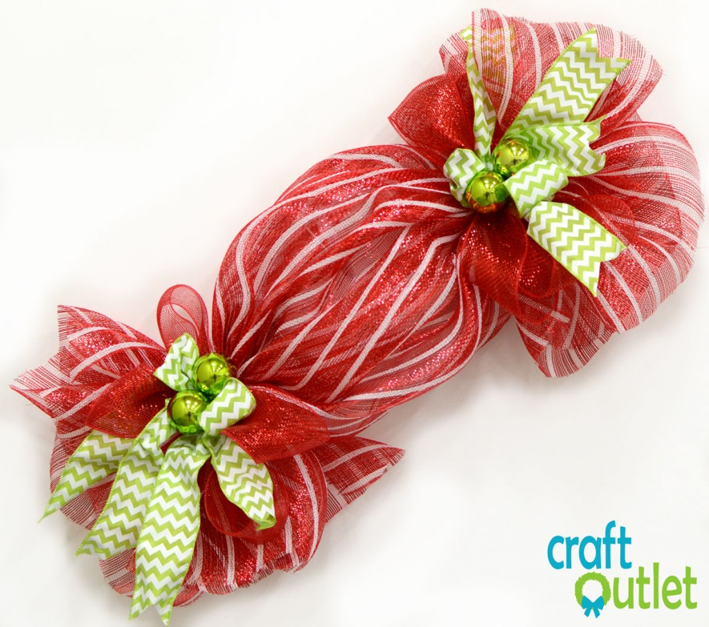 Deco Mesh Christmas Candy Wreath – Craft Outlet / inspiration