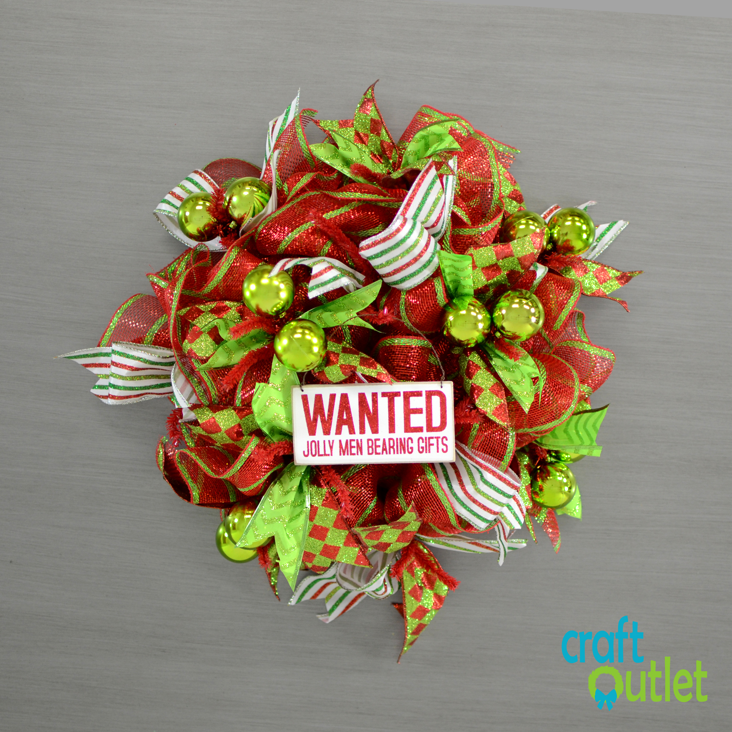 Diy Small Ruffle Style Christmas Wreath Craft Outlet