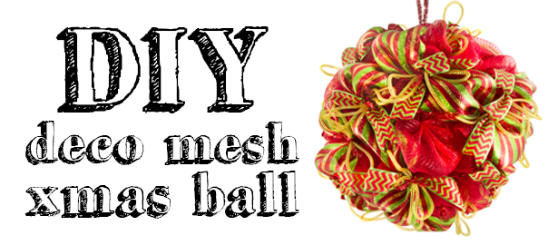 Creating a deco mesh christmas ball craft outlet