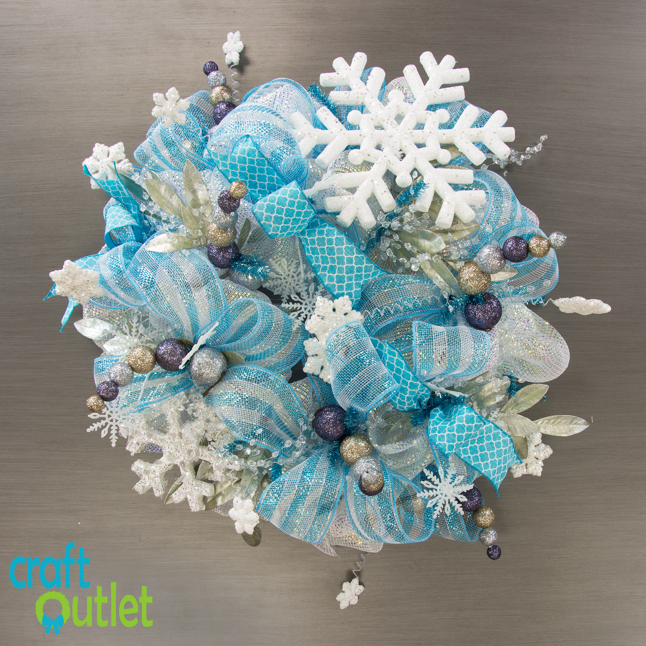 Making A Frozen Snowflake Wreath Craft Outlet Inspiration