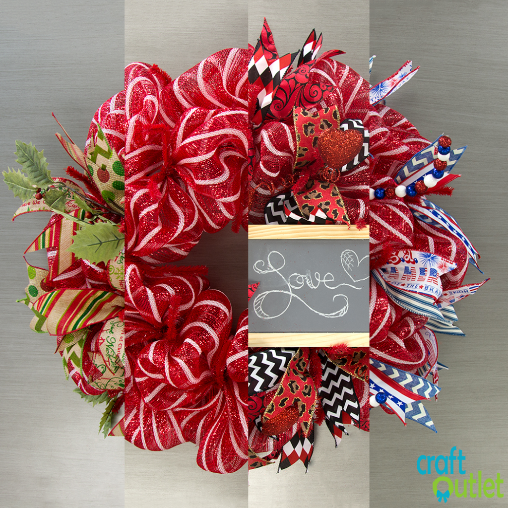Deco mesh wreath three ways craft outlet inspiration thank you for watching shopping at craftoutlet baditri Gallery