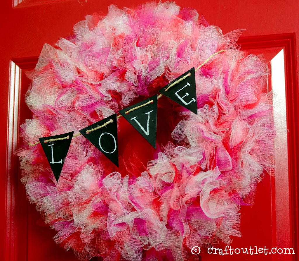 To Celebrate The Most Holiday Around We Wanted Create A Soft And Sweet Tulle Wreath Enchant Every Guest S Heart