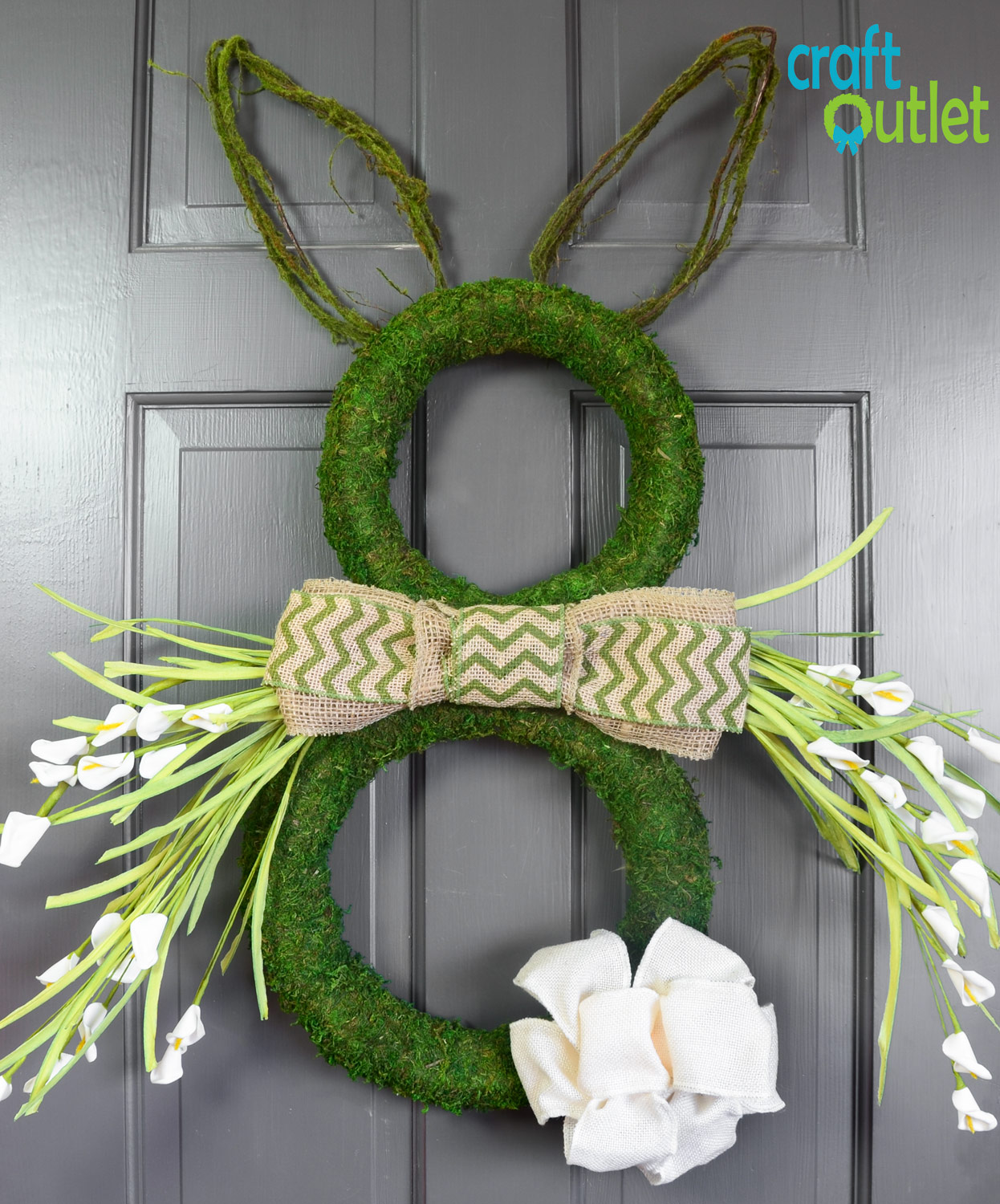 Moss Easter Bunny Wreath Craft Outlet Inspiration