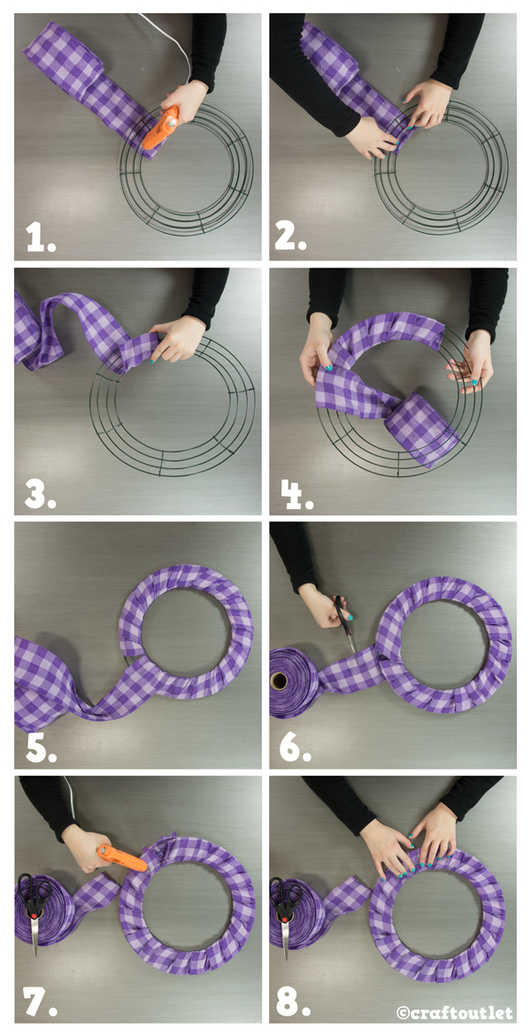Ribbon Rose Wreath Tutorial Craft Outlet Inspiration