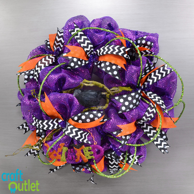 Black Flower And Crow Halloween Wreath: Create Your Own Wicked Halloween Wreath