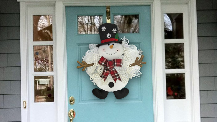 Frosty Snowman A Christmas Wreath Tutorial Craft Outlet