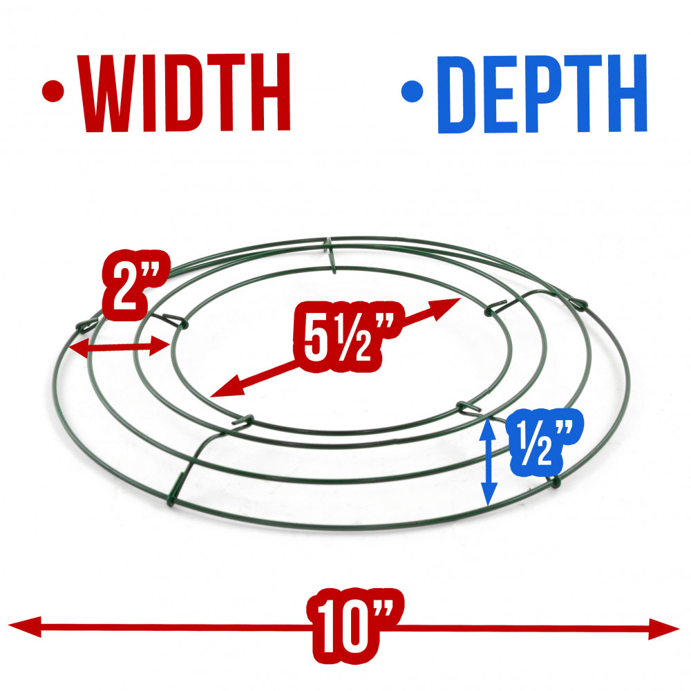 10 Wire Wreath | Box Wire Wreath Form 10 Inch Round 36002 Craftoutlet Com