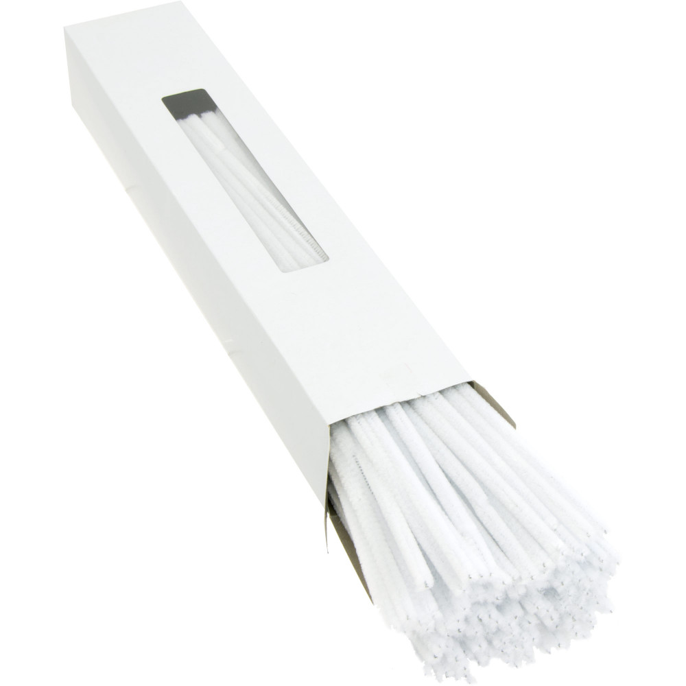 Chenille Stems White 10 Pipe Cleaners