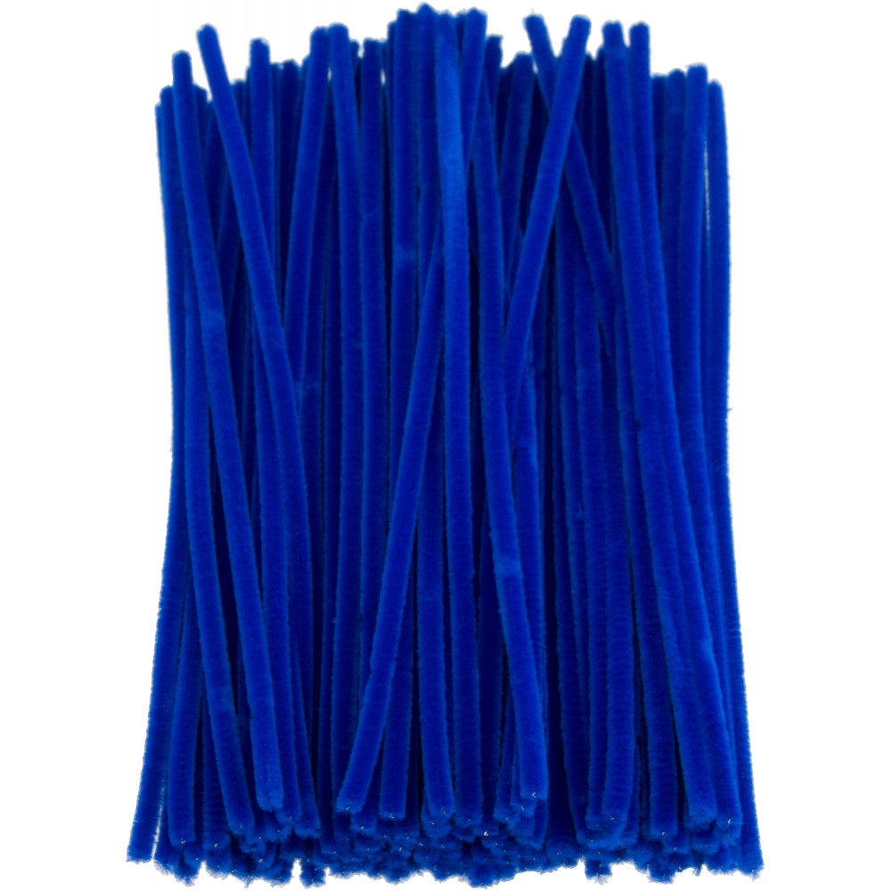 pipe cleaners chenille stems royal blue 100 10166 40