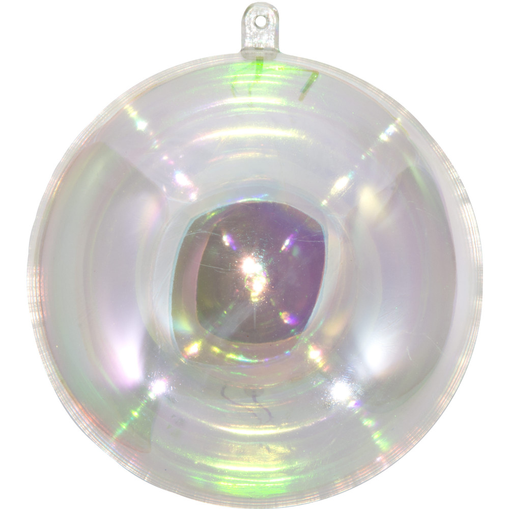 Clear fillable plastic ornaments - 100mm Clear Plastic Ornament Ab Finish
