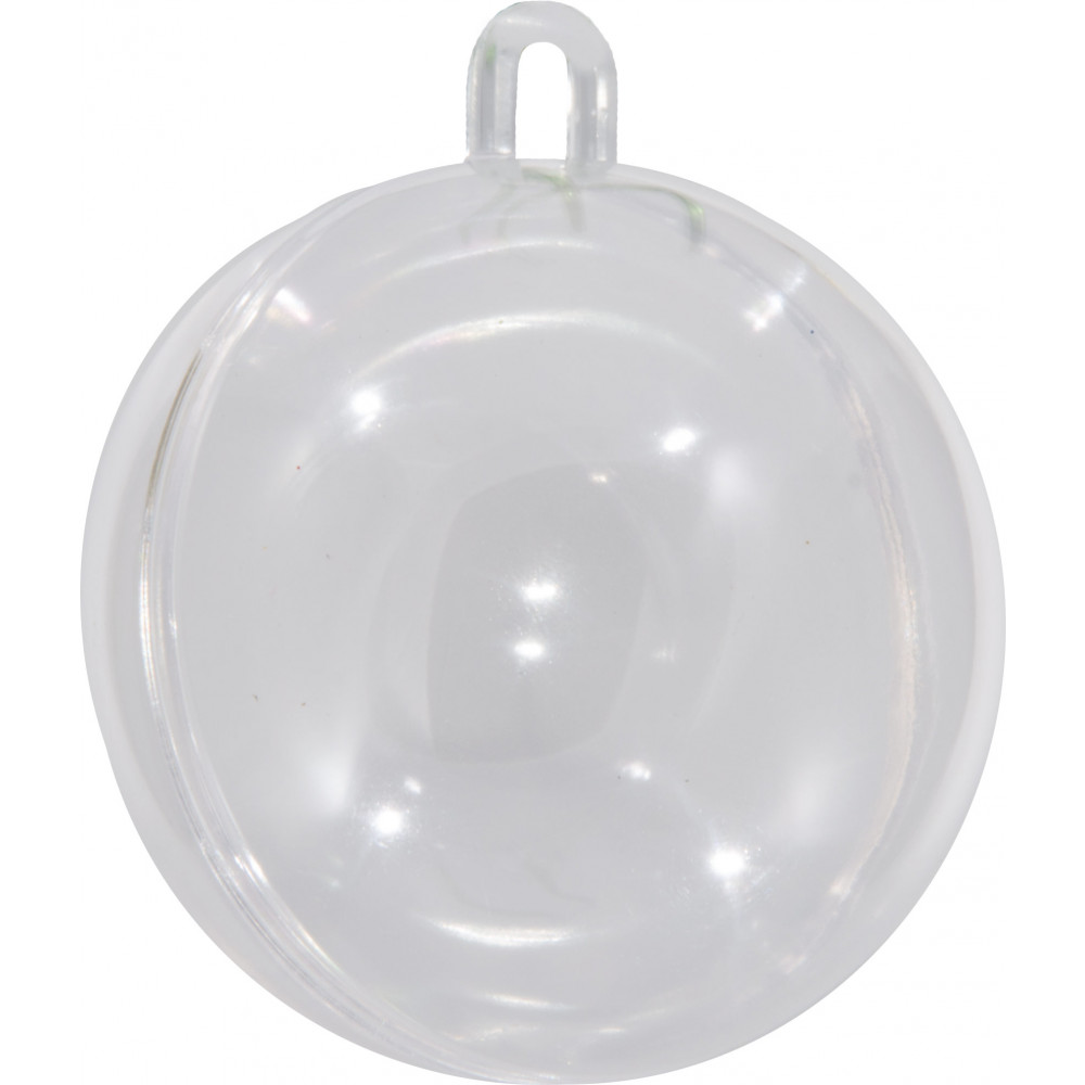 Clear fillable plastic ornaments - 60mm Clear Plastic Fillable Ornament