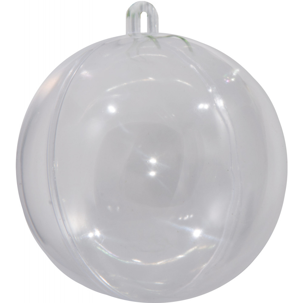 Clear Plastic Fillable Ball Ornament : 80MM [1105-97] - CraftOutlet.com