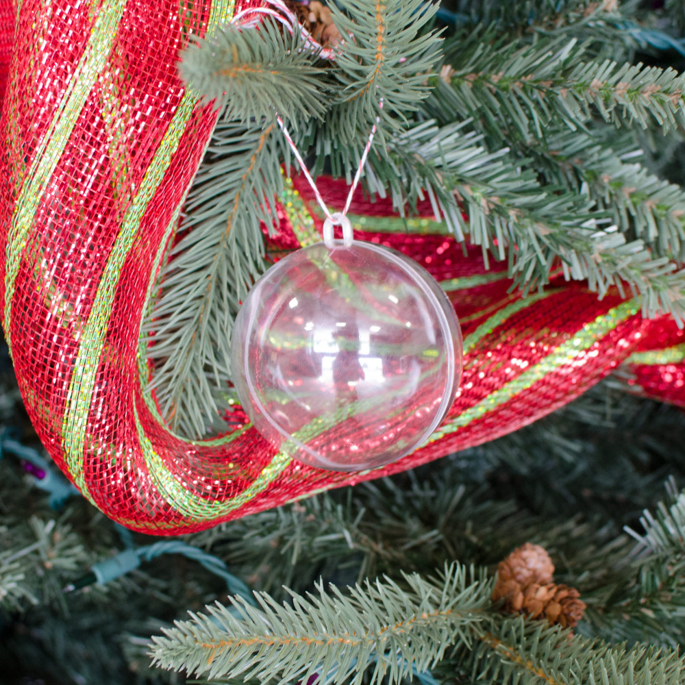 Clear fillable plastic ornaments - 80mm Clear Plastic Ornament Fillable