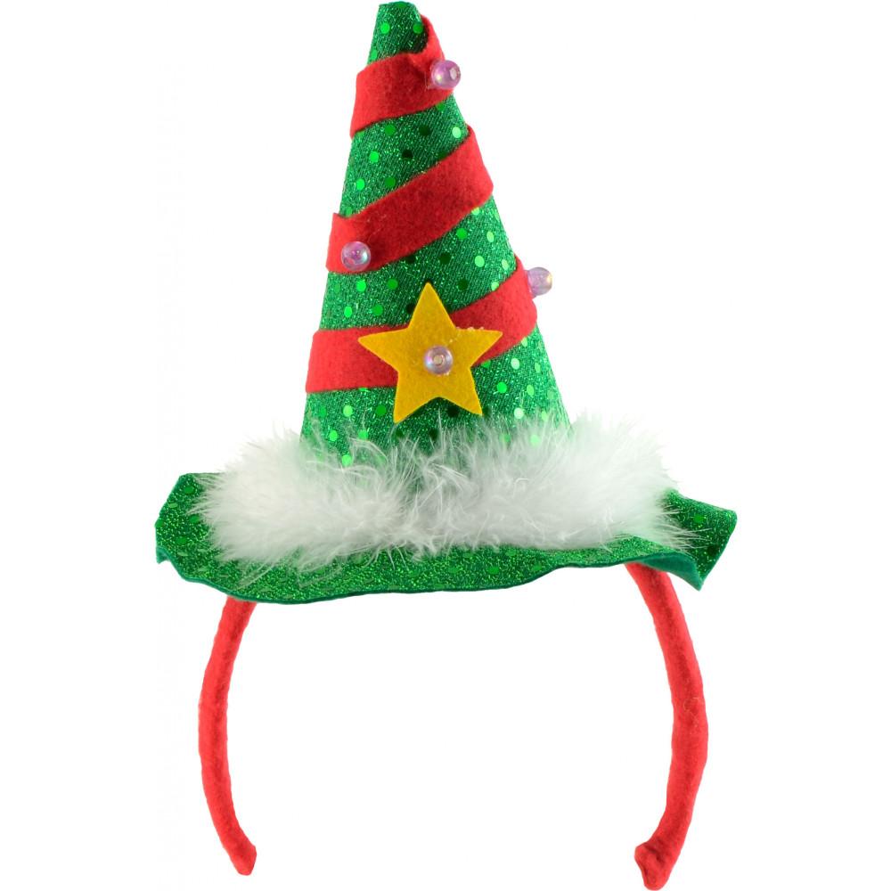 light up christmas tree headband - Light Up Christmas Tree
