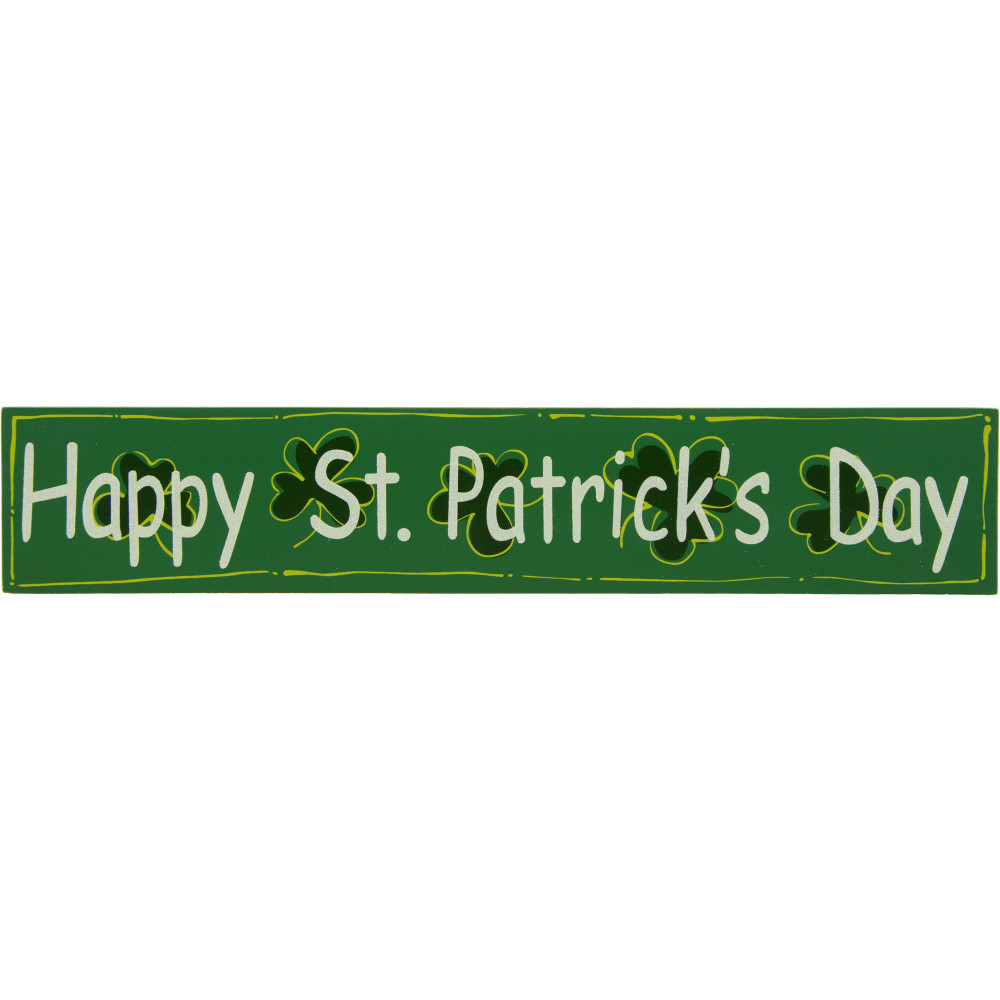 Happy St Patricks Day Green Wooden Sign 1875 By 35 317 129