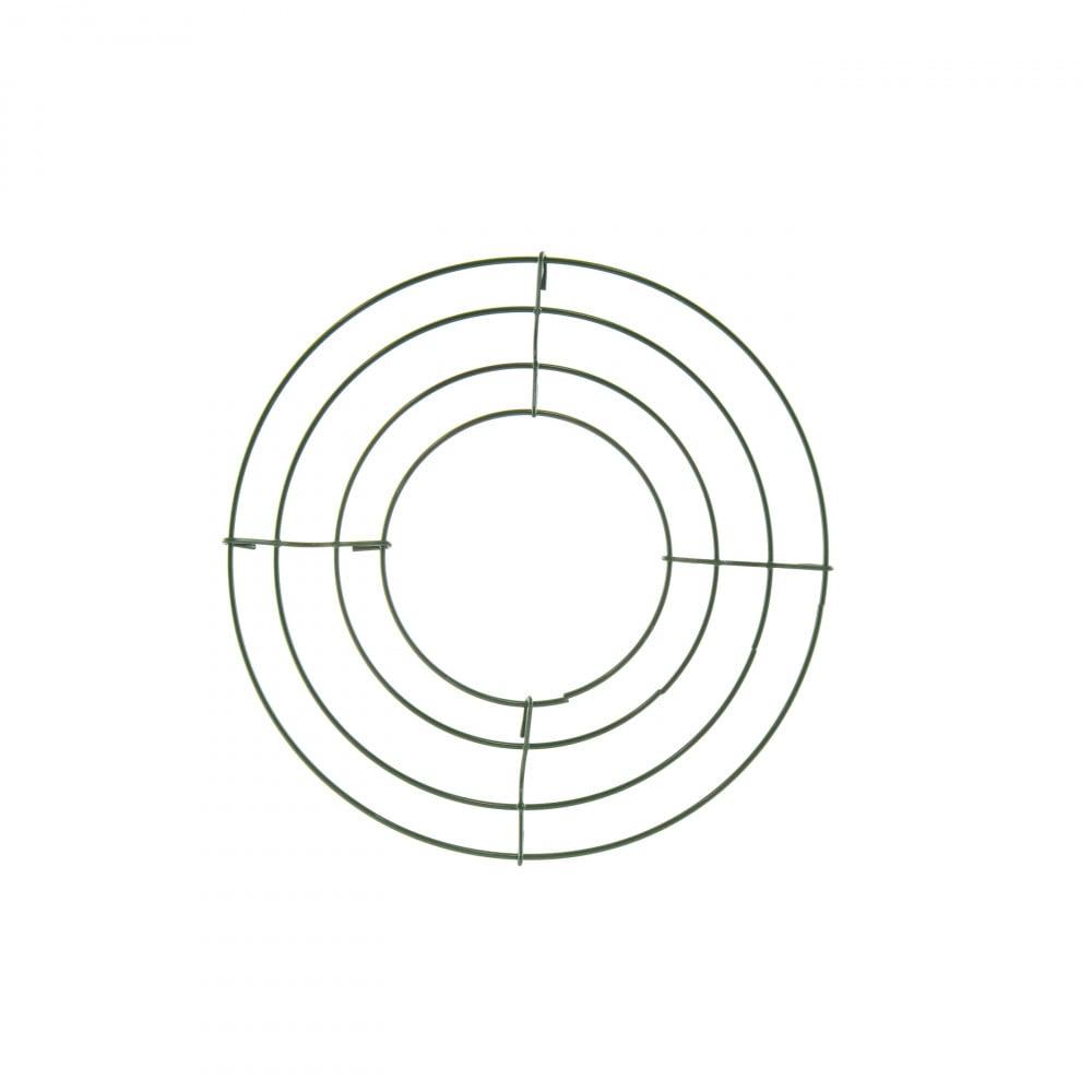 box wire wreath form  8 inch round  36001
