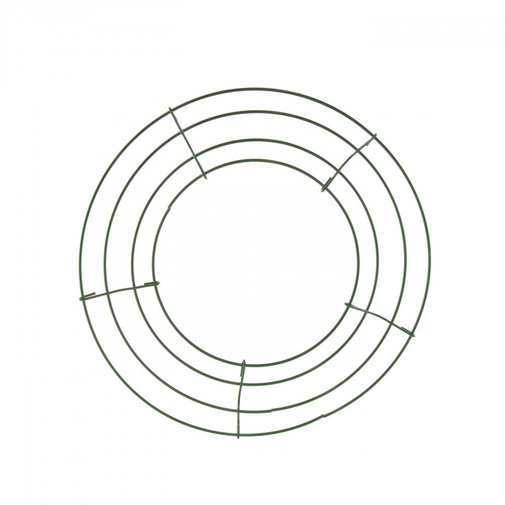 box wire wreath form  10 inch round  36002