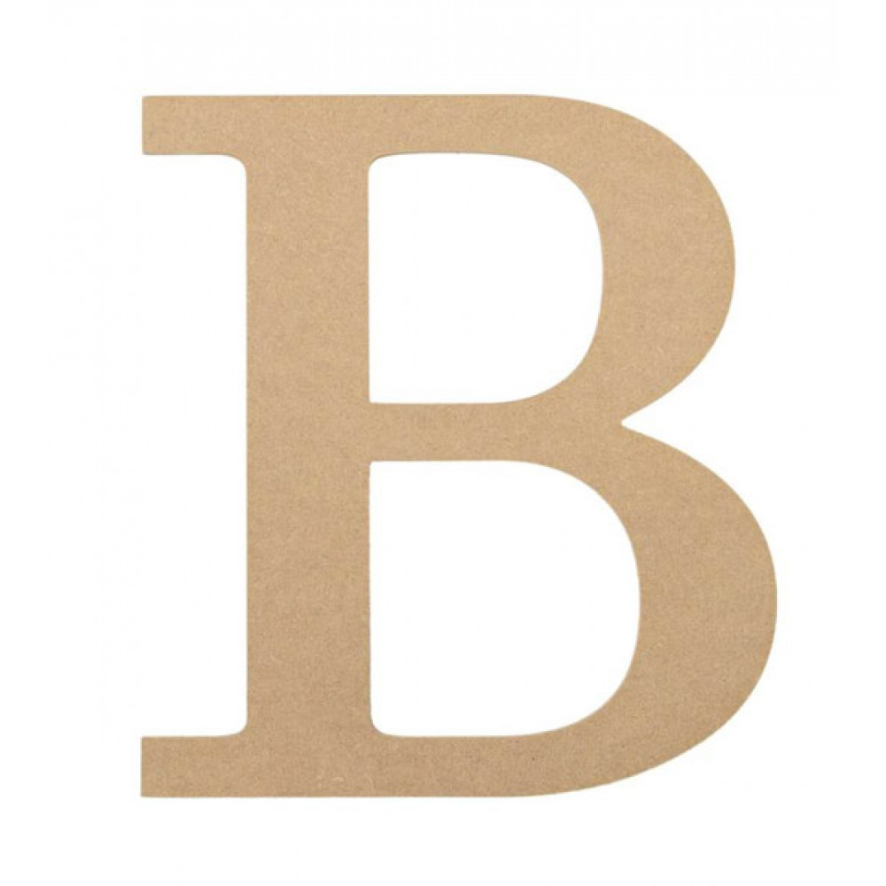 "10"" Decorative Wood Letter: B [AB2026] - CraftOutlet.com"