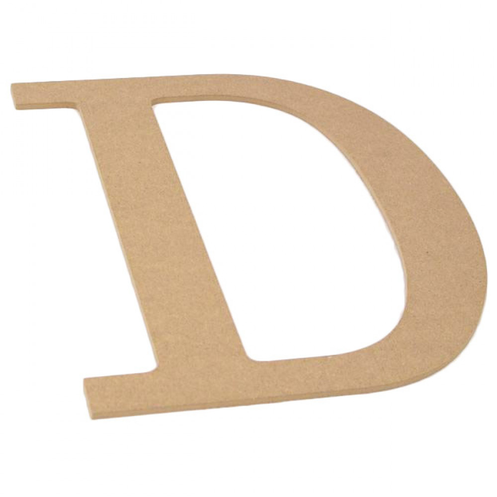 "10"" Decorative Wood Letter: D [AB2028] - CraftOutlet.com"