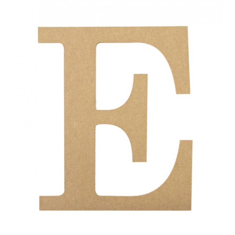 "10"" Decorative Wood Letter: E [AB2029] - CraftOutlet.com"