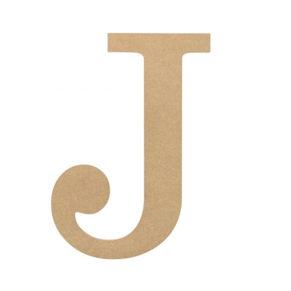 "10"" Decorative Wood Letter: J [AB2034] - CraftOutlet.com"