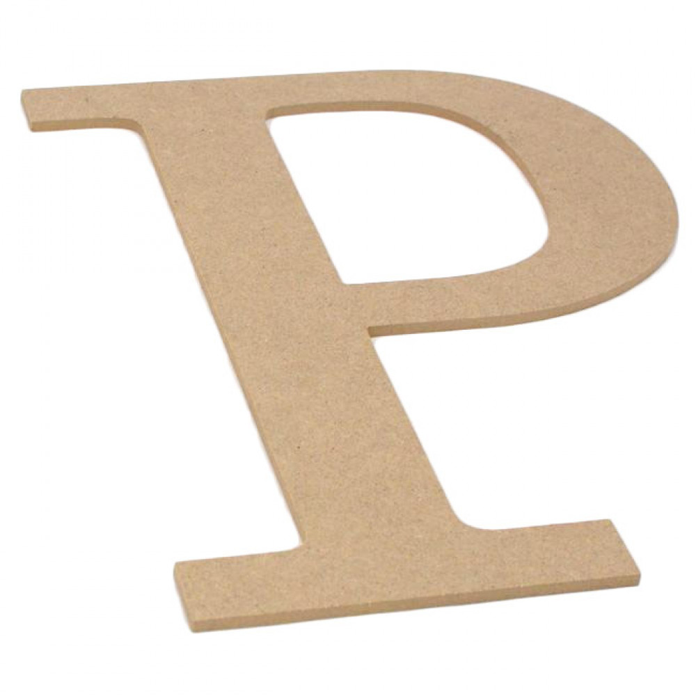 "10"" Decorative Wood Letter: P [AB2040] - CraftOutlet.com"