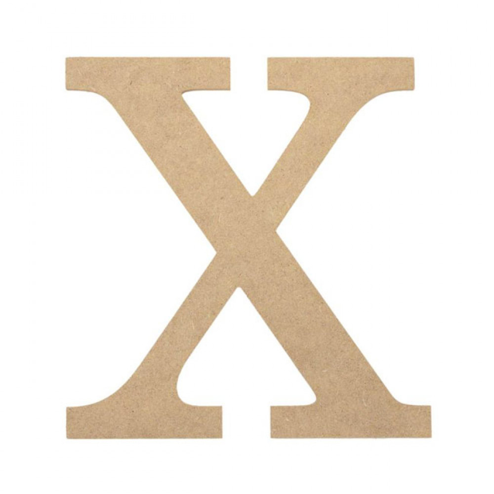 "10"" Decorative Wood Letter: X [AB2048] - CraftOutlet.com"