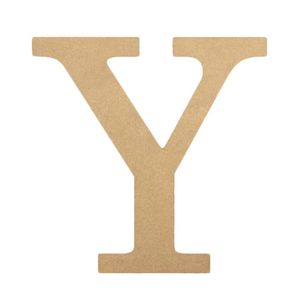 "10"" Decorative Wood Letter: Y AB2049 - CraftOutlet.com"