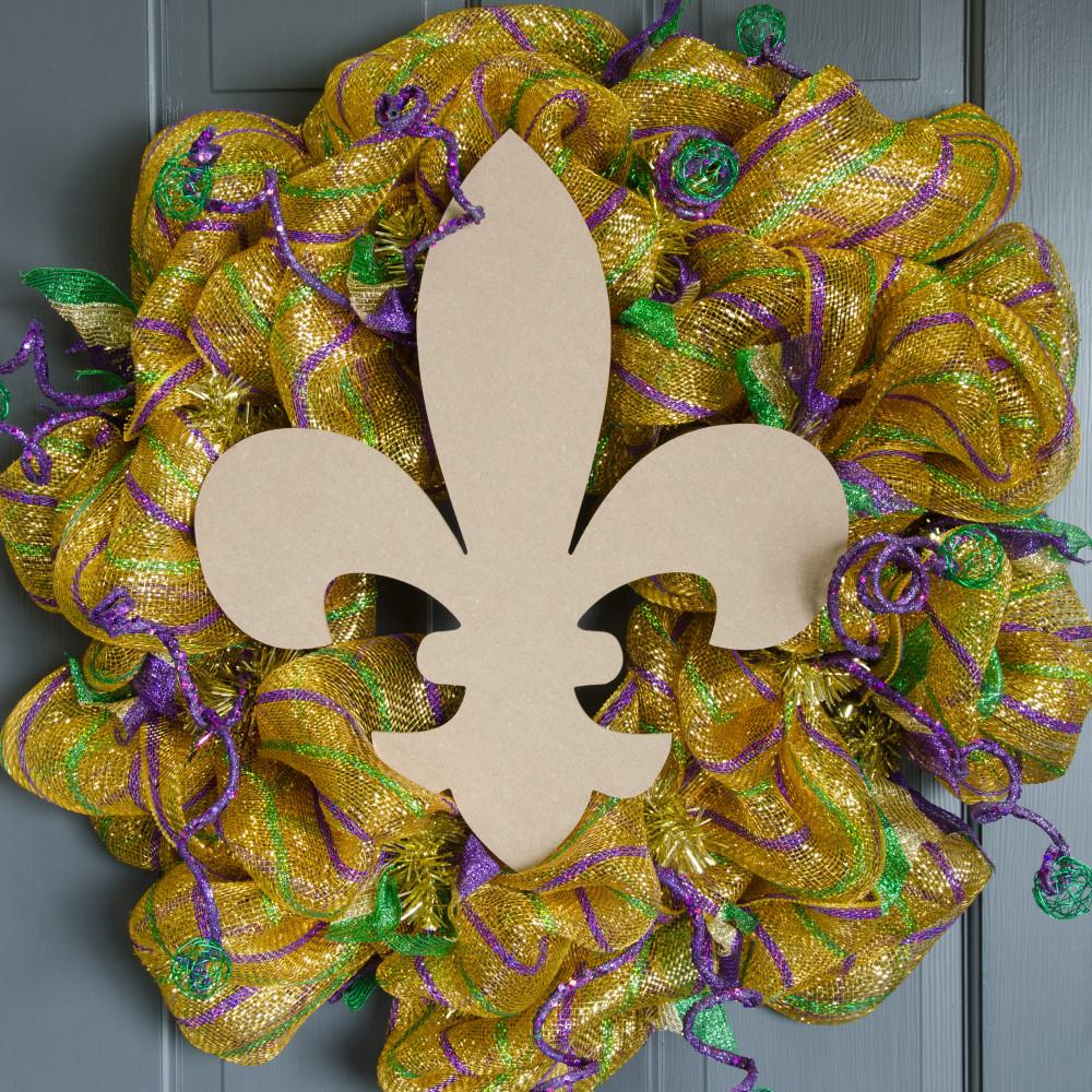 16 wooden fleur de lis decoration natural ab2231 craftoutlet 16 wooden fleur de lis decoration natural amipublicfo Images