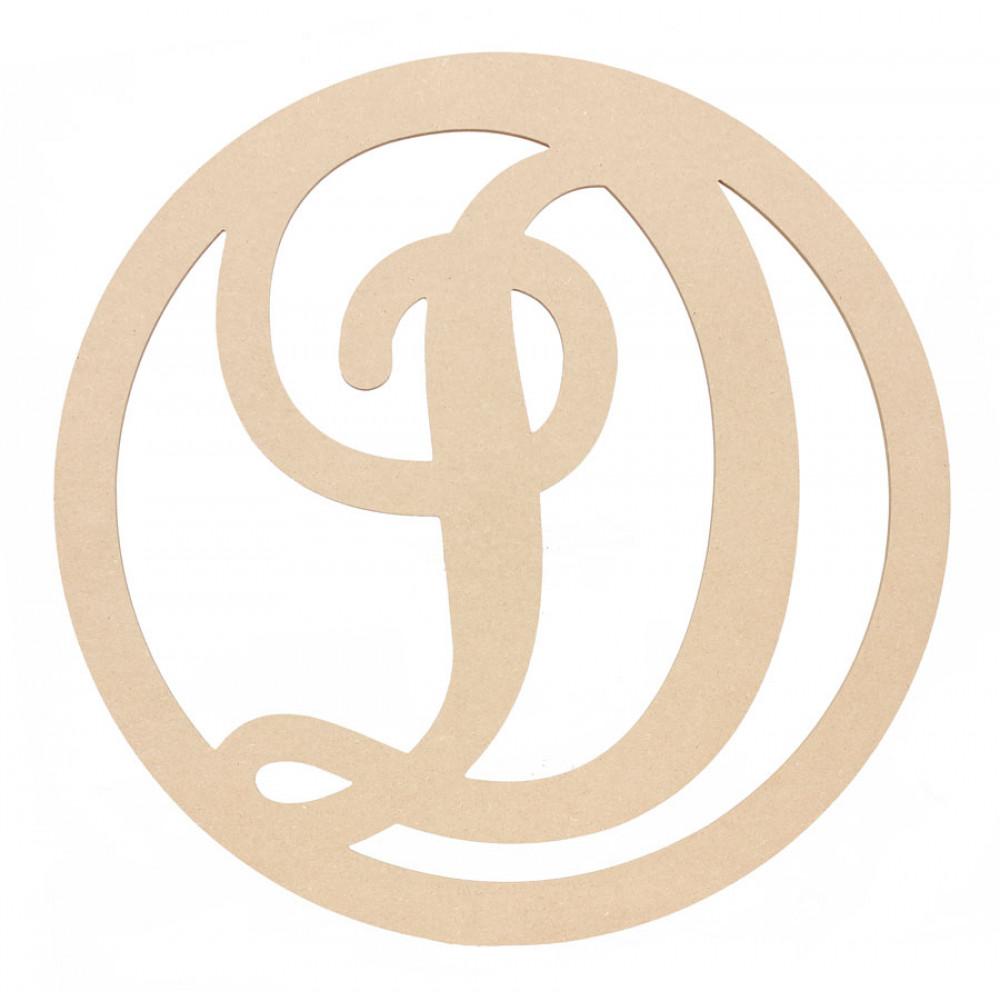 23 script circle monogram wooden letter d ab2237 craftoutlet com