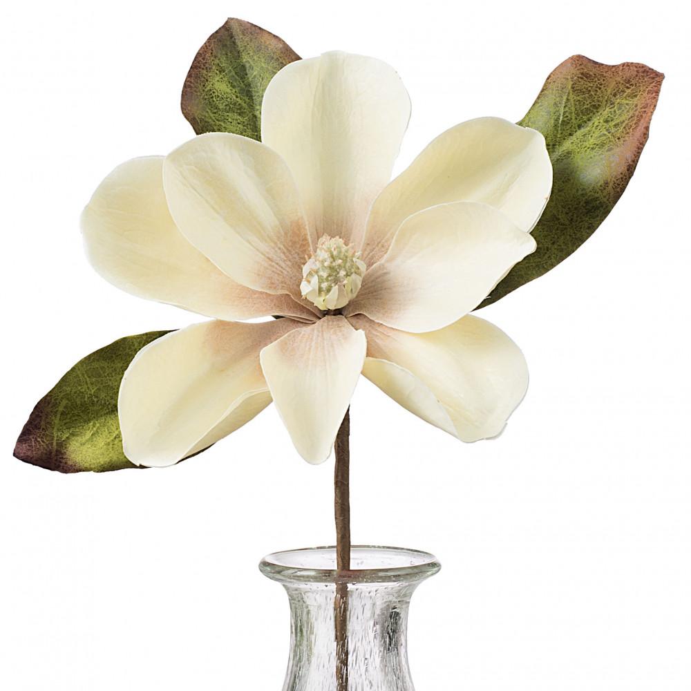 14 Magnolia Flower Stem Cream 2823023cr Craftoutlet