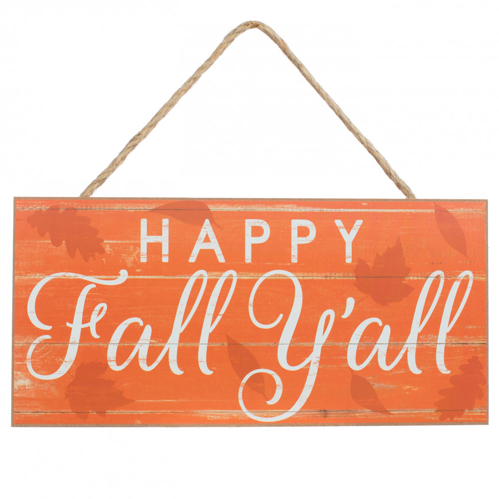 12 Wooden Sign Happy Fall Y All Ap8180 Craftoutlet Com