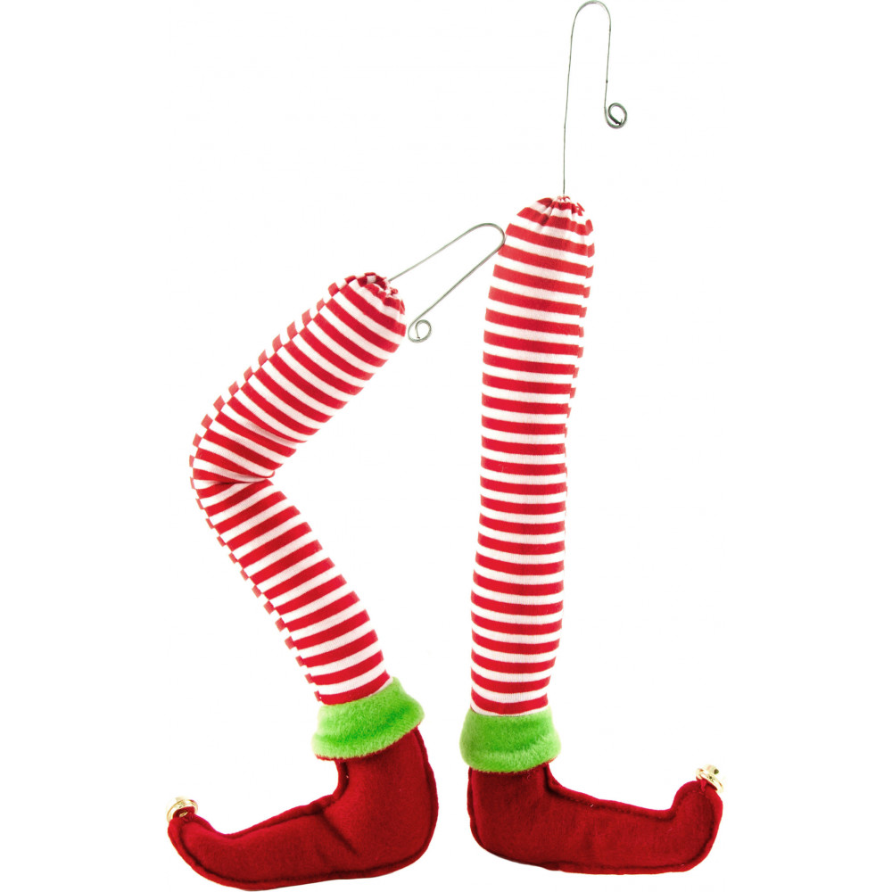 pair of plush elf legs - Elf Legs Christmas Decoration