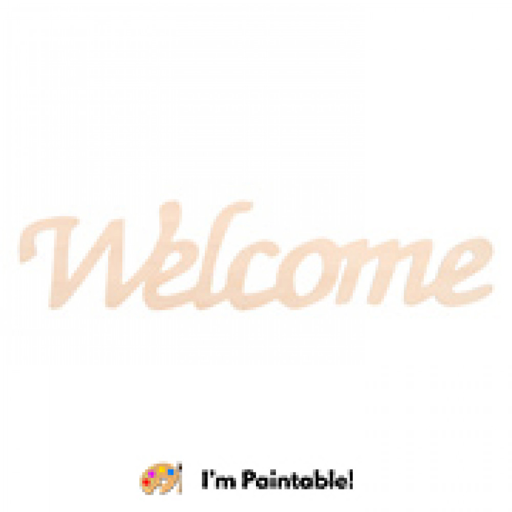 12 Wooden Word Cutout Welcome