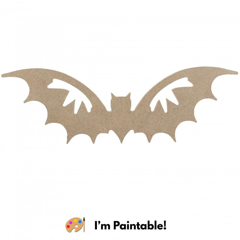 10 Decorative Wooden Bat Silhouette Natural