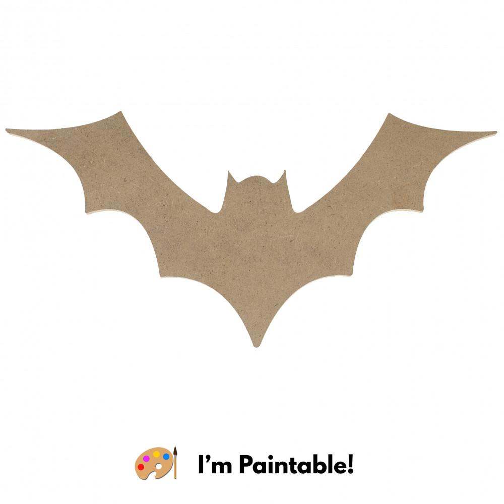 12 Decorative Wooden Bat Silhouette Natural