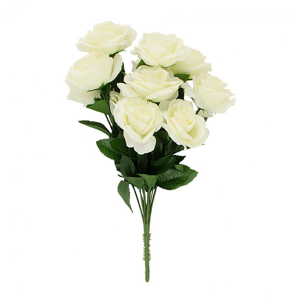 17 colorfast lillian open rose bush 12 cream 30388cm. Black Bedroom Furniture Sets. Home Design Ideas