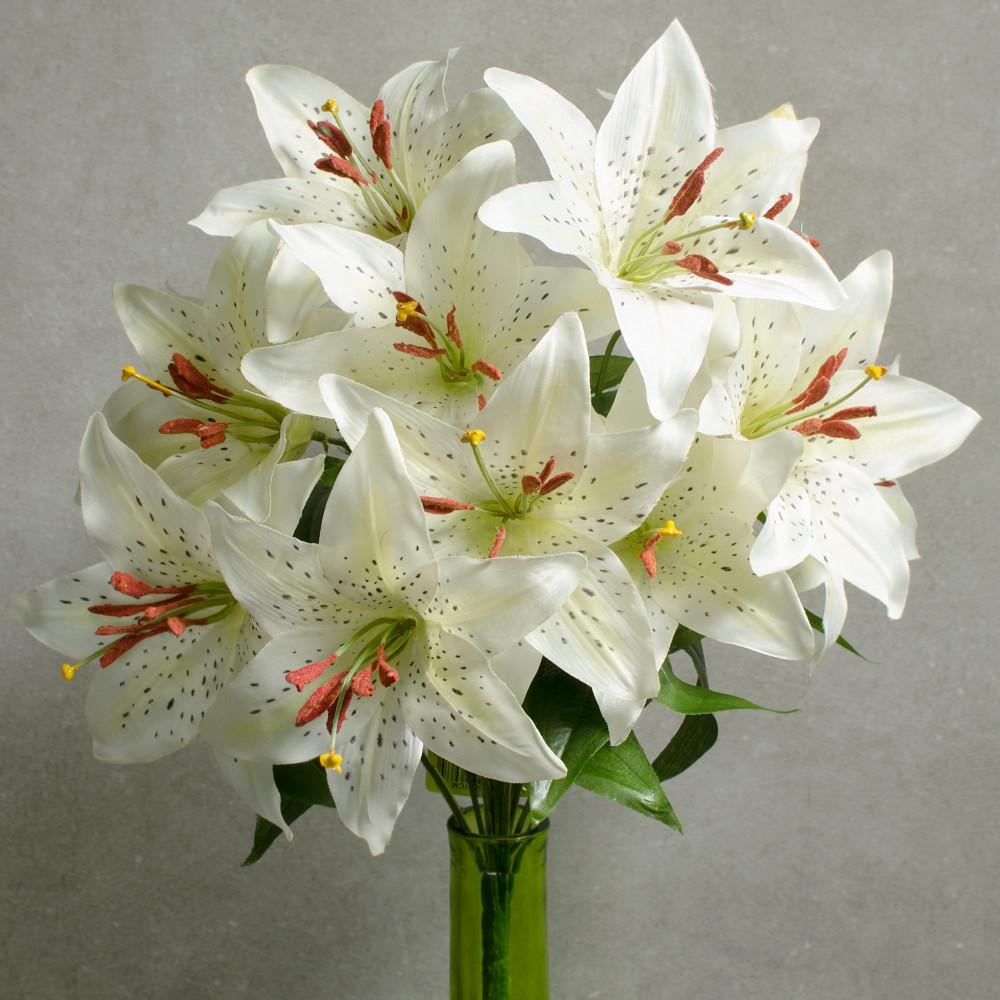 18 tiger lily bush 12 white 35001cm craftoutlet 18 tiger lily bush 12 white izmirmasajfo