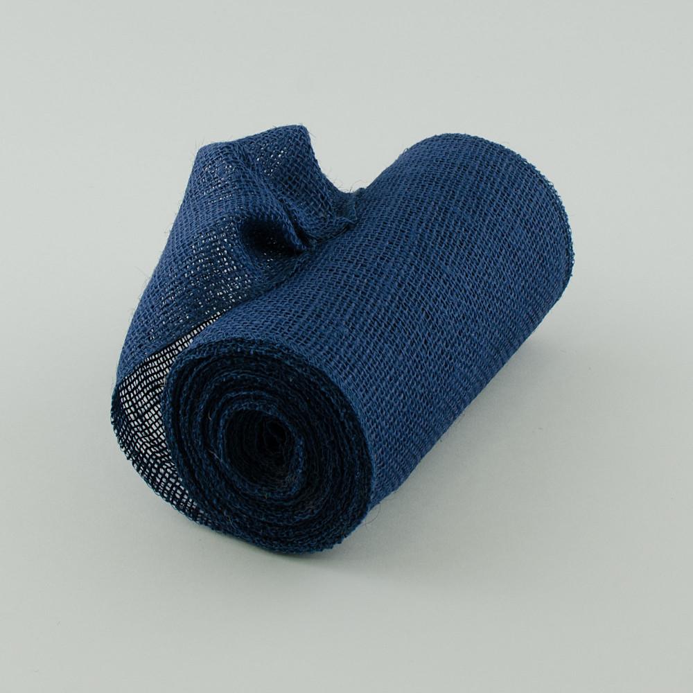 9 Quot Burlap Ribbon Navy Blue 10 Yards Jrh09 33
