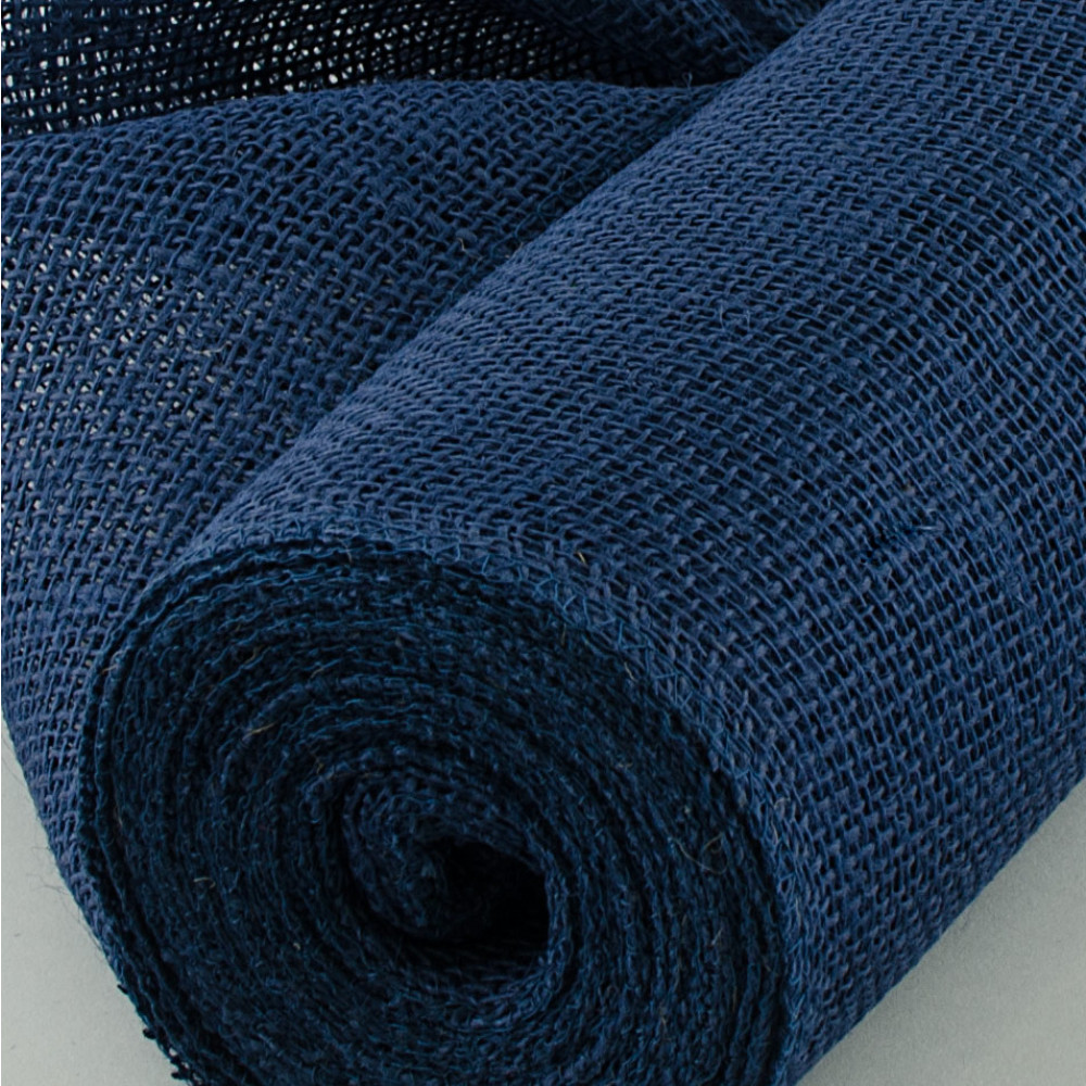 20 Quot Burlap Fabric Roll Navy Blue 10 Yards Jrh19 33