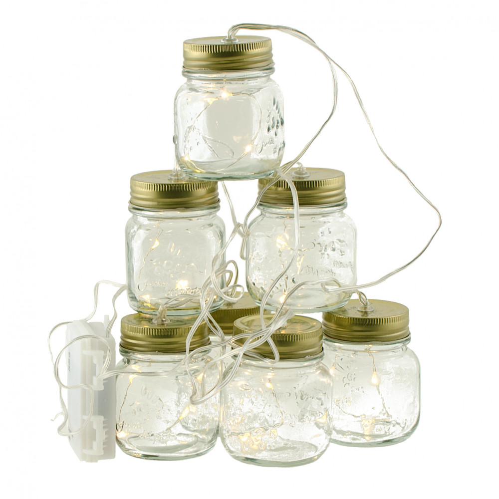 String Lights In A Mason Jar : Mini Mason Jar String Lights (7.5 ) [G3625558] - CraftOutlet.com