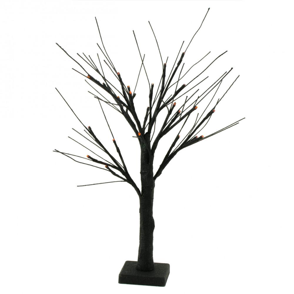Wired Tree | 24 Led Glitter Wired Tree Centerpiece Black Llt003b