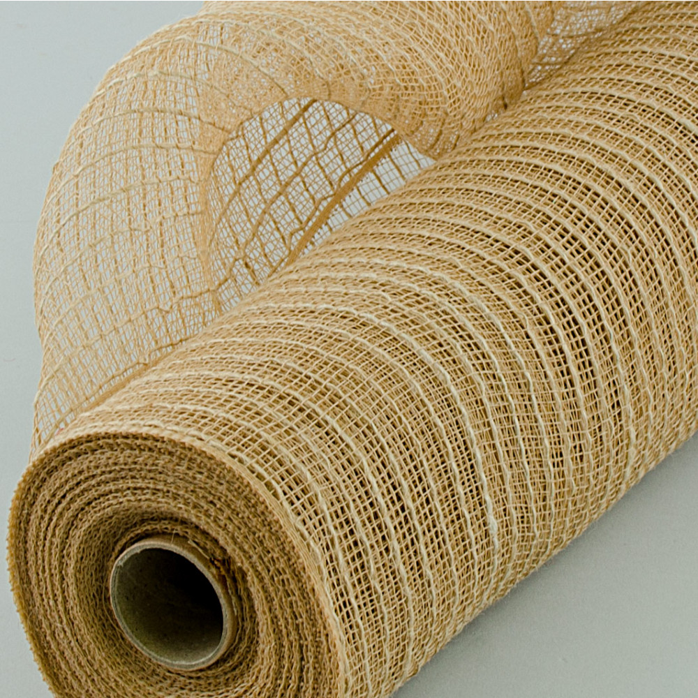 21 Quot Poly Jute Deco Mesh Natural 10 Yards Ry900518
