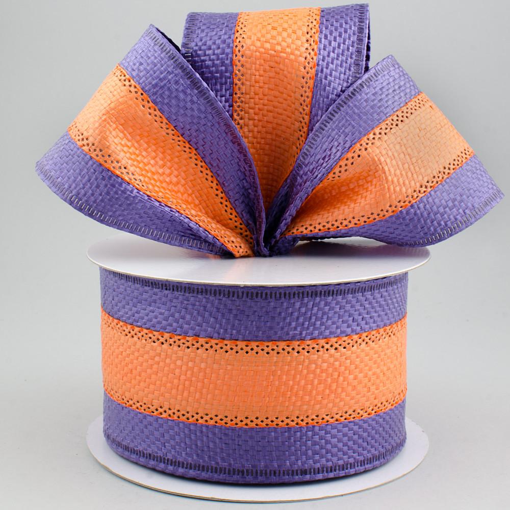 2 5 u0026quot  waterproof ribbon  orange on purple  10 yards   rt16