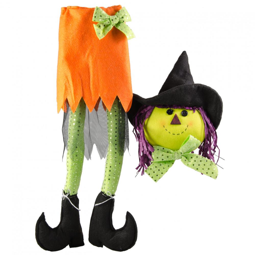Plush Witch Wreath Accent: Orange [HH729720] - CraftOutlet.com