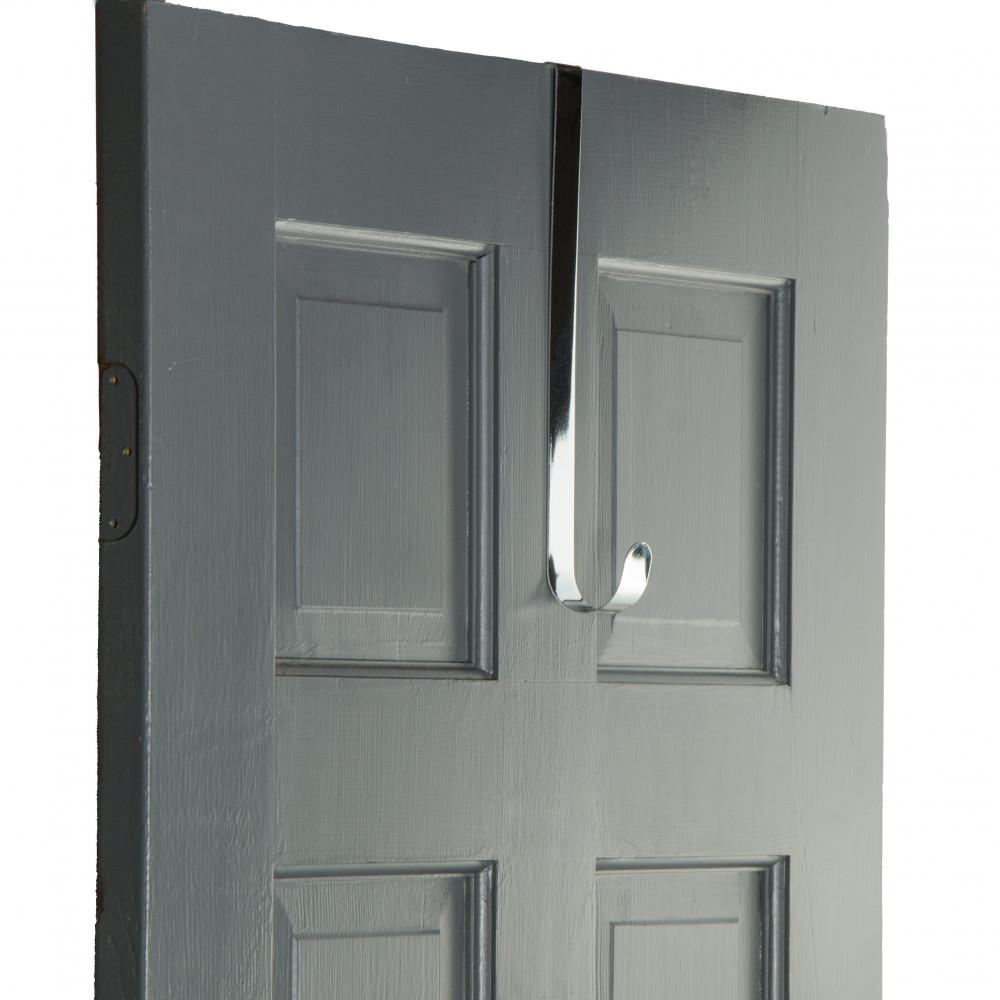 12 Quot Metal Over The Door Wreath Hanger Silver Mz211326