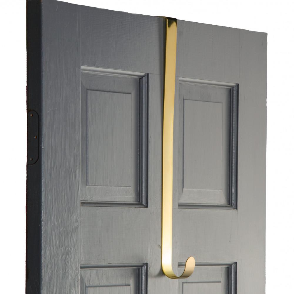 18 Quot Metal Over The Door Wreath Hanger Gold Mz211408