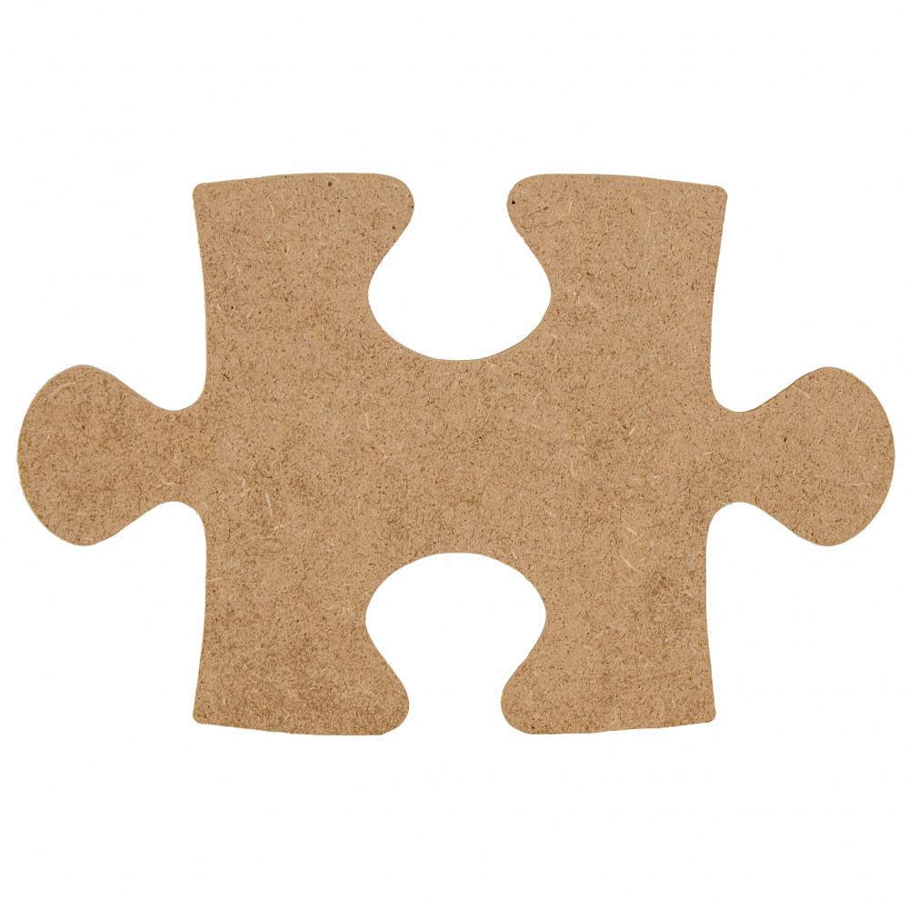 "10"" Wooden Puzzle Piece Decoration: Natural [AB2319 ..."