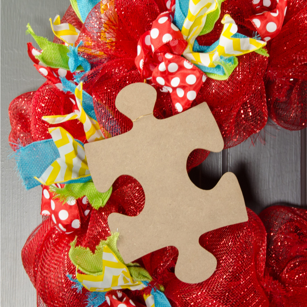 10 wooden puzzle piece decoration natural ab2319 for Decoration crossword clue
