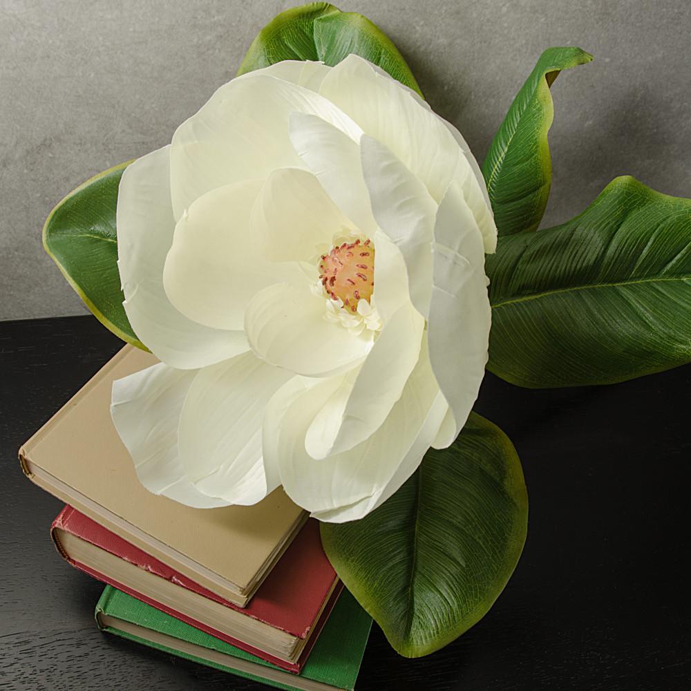 30 Deluxe Magnolia Flower Stem 29278wt Craftoutlet
